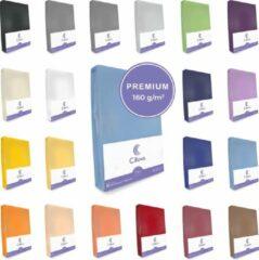 Cillows Premium Jersey Hoeslaken voor Matras - 180x200 - 200x220 cm - (tot 25 cm hoogte) – Lichtblauw