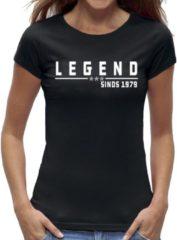 Zwarte New York Finest 40 jaar verjaardag t-shirt vrouwen / kado cadeau tip / dames maat XL / Legend 1979