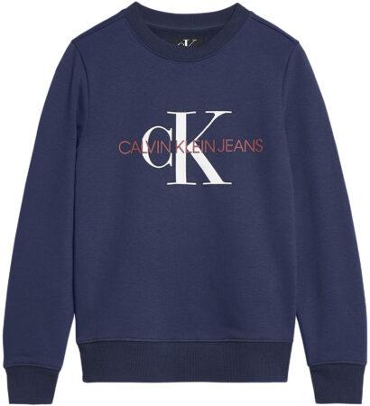 Afbeelding van Blauwe Calvin Klein Ib0Ib00261 Monogram Swear Sweater Unisex Boys blue
