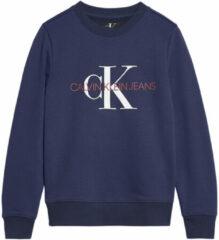 Blauwe Calvin Klein Ib0Ib00261 Monogram Swear Sweater Unisex Boys blue