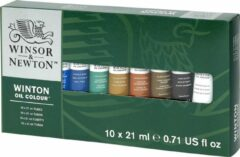 Rode Winsor & Newton Winton olieverf set 10 tubes van 21ml