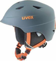 Uvex Skihelm - UnisexKinderen - grijs/oranje S: 52-54cm