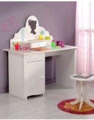 Kinderschreibtisch mit Hocker und Aufsatz 'Alice 12' Weiß Parisot Weiß