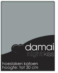 Hoeslaken katoen 160-180 x 200/210 (95) grey multiform (Lits-jumeaux) Damai