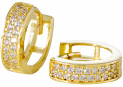 Gold Collection Gouden Klapcreolen Glanzend met zirkonia - 11 mm 207.0146.11