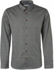 Grijze No Excess Shirt long sleeve all over printed stone