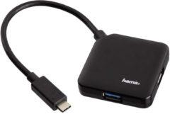 Hama 00135750 USB 3.0 (3.1 Gen 1) Type-C 5000Mbit/s Zwart hub & concentrator