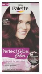 Schwarzkopf Poly Palette Perfect Gloss haarkleuring - 389 Donker Robijnrood