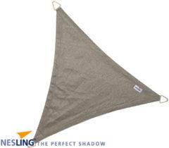 Donkergrijze Nesling Coolfit schaduwdoek driehoek 500x500x500cm - Antraciet