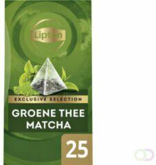 Thee Lipton Exclusive Groene thee Matcha 25 piramidezakjes