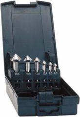 Exact 50213 Kegelverzinkboorset 5-delig 6.3 mm, 10.4 mm, 16.5 mm, 20.5 mm, 25 mm HSS Cilinderschacht 1 set(s)