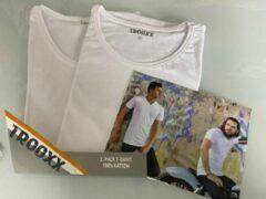 Witte Trooxx T-shirt 3x 2 pack, 6 stuks - Round Neck - Kleur: White - Maat: S