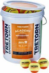 Tretorn Academy Orange Bucket Emmer met 72 Tennisballen Stage 2 Oranje