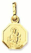 Religious Geelgouden Scapuliermedaille 8.0 mm - Achtkant 247.0003.08