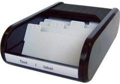 Witte Helit H6218095 the personal Visitekaart box 300 kaarten (b x h x d) 240 x 67 x 136 mm Zwart Polyethyleen, Polypropyleen, Polystyrol
