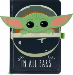 Disney Hole In The Wall Star Wars The Mandalorian The Child I Am All Ears Crib Premium A5 Notebook