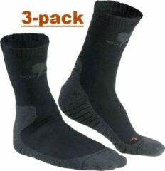 Zwarte Wolf Camper Moccasin zomersok 3-pack 37-39
