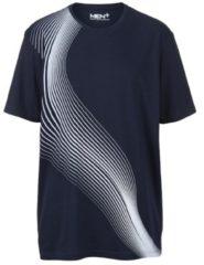 Blauwe T-shirt Men Plus Marine::Wit