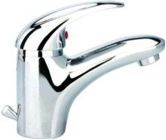 Schütte SCHÜTTE Aqua2Save Wastafelkraan - Mengkraan - Waterbesparend - met Waste - Chroom
