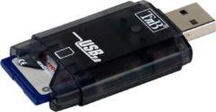 Zwarte TnB T'nB READERSD1 geheugenkaartlezer USB 2.0
