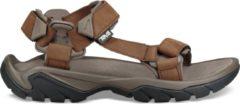 Zandkleurige TEV - Teva Terra Fi 5 Universal Leather Sandaal Kameelbruin/Zandbruin