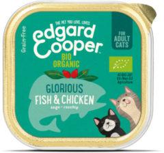 Edgard-Cooper Edgard&Cooper Kuipje Adult Biologisch 85 g - Kattenvoer - Kip&Vis