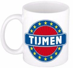 Shoppartners Namen mok / beker - Tijmen - 300 ml keramiek - cadeaubekers
