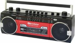 Rode Roadstar RCR-3025EBT/RD Portable audio tape player Tangible keypad, Recording mode, Incl. microphone Red, Black