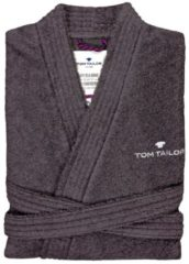 TOM TAILOR TOM TAILOR Herren Basic Bademantel, Herren, dunkelgrau / dark grey, Größe: XL, grau, unifarben, Gr.XL