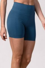 Blauwe REVIVE Sportswear REVIVE seamless high-waist yoga - training - sportshort TROFA