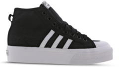 Witte Adidas Nizza Platform Mid W Dames Sneakers - Core Black/Ftwr White/Ftwr White - Maat 38
