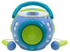 Kinder CD Spieler KCD1600BL/PI mit Mikrofon & Sing-a-long Funktion Soundmaster blau
