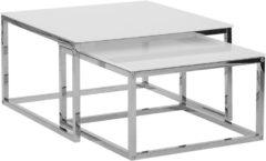 Beliani BREA - Salontafel set van 2 - Wit - Veiligheidsglas