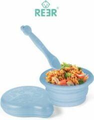 Reer Baby bord voor onderweg | Handig snel en opvouwbaar incl. opbergbak | Blauw