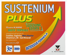 Menarini Sustenium Plus Edizione Estate Intensive Formula gusto Tropicale 12 bustine
