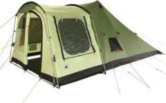 10-T Outdoor Equipment 10T Camping-Zelt Tropico 4 Tipi Tunnelzelt Kombi mit Schlafkabine für 4 Personen Outdoor Familienzelt mit Wohnraum, versetzbarer Vorderwand, eingenäht