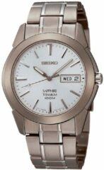 Grijze Seiko SGG727P1 horloge heren - grijs - titanium