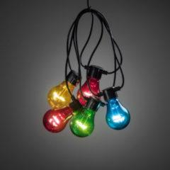 Konstsmide 2397 - Feestverlichting koppelbaar tot 40m - verlengsnoer 10 lamps transp 80 LED - 1000 cm - 24V - voor buiten - multicolor