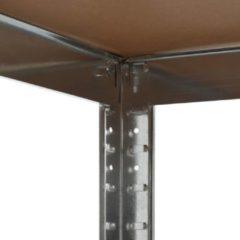4-5 days Opbergrek 75x75x180 cm staal en MDF zilverkleurig