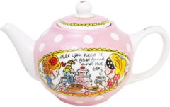 Roze Blond Amsterdam Even Bijkletsen theepot 1,5 liter