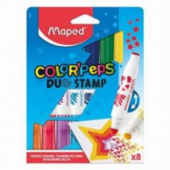 Maped Color'Peps Duo Stamp Viltstiften 8 Stuks