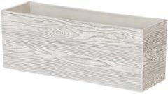 Beliani Bloempot wit hout 42 x 13 x 15 cm POAS