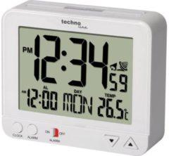 Techno Line WT195 weià Wekker Zendergestuurd Wit Alarmtijden 1