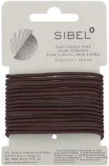 Bruine Sibel - Thin Elastic Hair Bands - Brown - 16 Stuks
