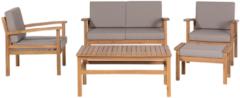 Beliani MANILA - Tuinmeubelset - Lichte houtkleur - FSC® Gecertificeerd Acacia Hout