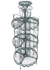 Dekorationsregal mit Schmetterlingsmotiv antik-grün