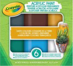 Blauwe Acryl verf Aarde tinten Crayola 6 stuks