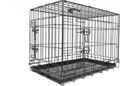 Adori Bench 2-Deurs De Luxe Zwart - Hondenbench - 76x48x55 cm
