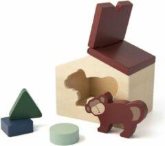 Bruine Trixie houten dierenhuis | Mr Monkey | animal house | speelgoed