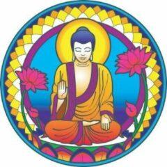 """Witte Yogi & Yogini naturals Raamsticker """"Buddha"""" Nature (14 cm)"""